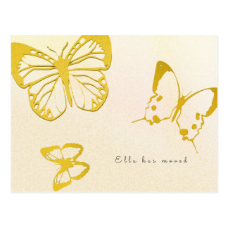Butterfly New Address For Her Custom Postcard