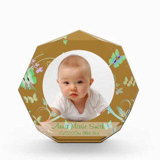 Butterfly/ New Baby Acrylic Award