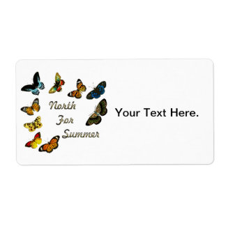 Butterfly - North for the Summer Shipping Label