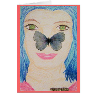 Butterfly Nose Card