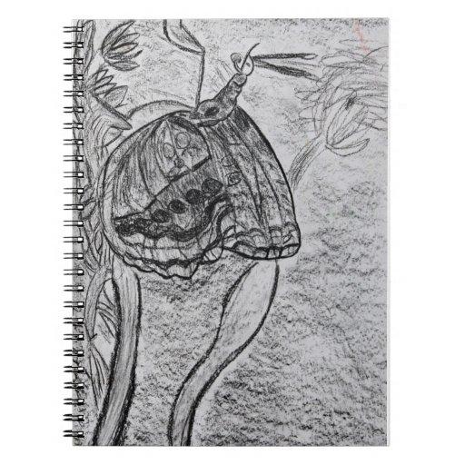 Butterfly Spiral Notebooks