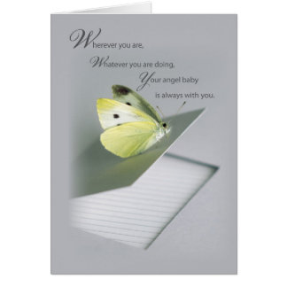 Butterfly Notebook Infant Death Support Card