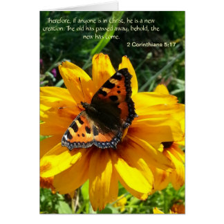 Butterfly notecard with biblical quote