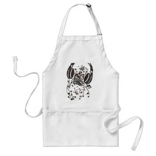 Butterfly_Notes Adult Apron