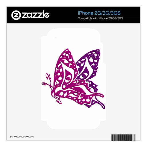 Butterfly_Notes Calcomanía Para El iPhone 3GS