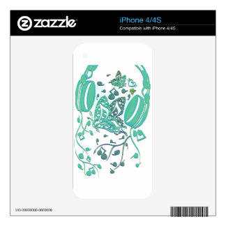 Butterfly_Notes Decal For The iPhone 4S