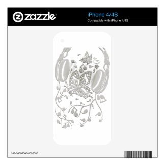 Butterfly_Notes iPhone 4 Decal