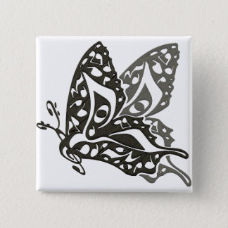 Butterfly_Notes Pinback Button