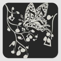 Butterfly_Notes Square Sticker