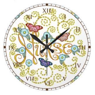 Butterfly Nurse round clock