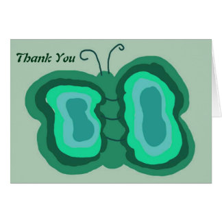 Butterfly of Green Thank You Notes