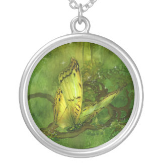 Butterfly Of The Forest Wearable Art Necklace