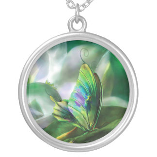 Butterfly Of The Magnolia Wearable Art Necklace