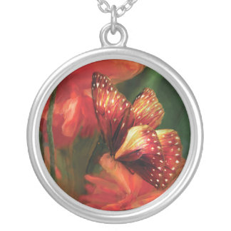 Butterfly Of The Poppies Wearable Art Necklace