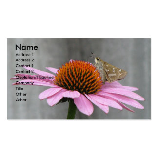 Butterfly on a Coneflower Double-Sided Standard Business Cards (Pack Of 100)