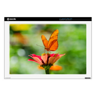 """Butterfly on a Flower 17"""" Laptop Decals"""