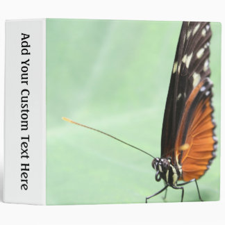 Butterfly on a Leaf. 3 Ring Binder