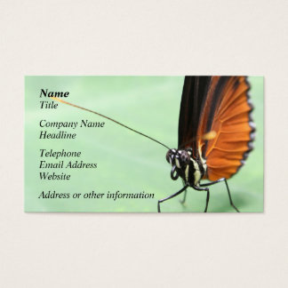 Butterfly on a Leaf. Business Card