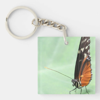 Butterfly on a Leaf. Keychain