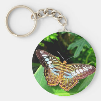 Butterfly on a Leaf Keychain