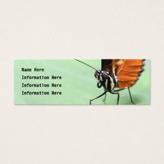 Butterfly on a Leaf. Mini Business Card