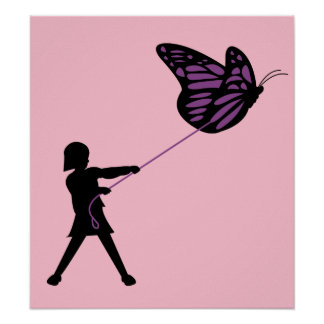 Butterfly on a Leash Poster