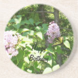 Butterfly on a Lilac Bush- Birthday Drink Coasters