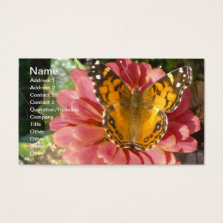 Butterfly on a Pink Zinnia Business Card