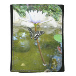 Butterfly on a Water Lily Wallets