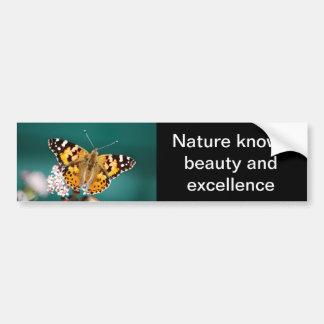 Butterfly on a wisp car bumper sticker