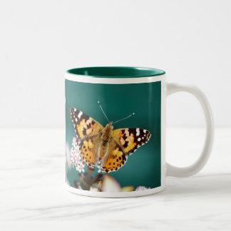 Butterfly on a wisp Two-Tone coffee mug