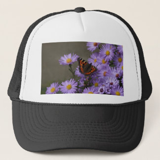 Butterfly on Asters Trucker Hat