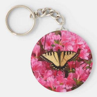 Butterfly on Azalea Keychain