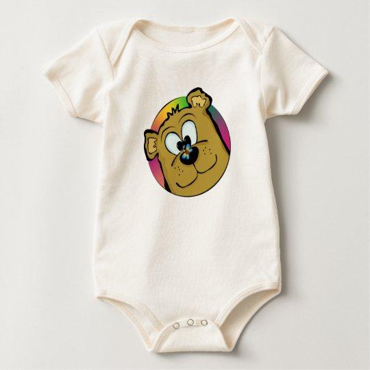 Butterfly On Bear Nose Baby Bodysuit