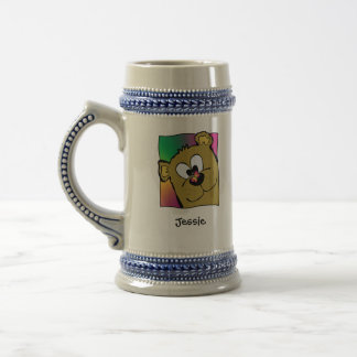 Butterfly On Bear Nose Beer Stein