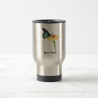Butterfly On Bloom Travel Mug