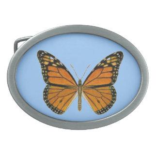 Butterfly on Blue Belt Buckle