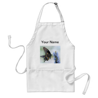 Butterfly on Blue Blossom aprom Adult Apron