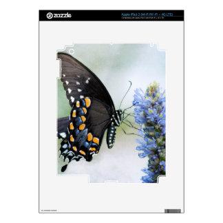 Butterfly on Blue Blossom ipad3 skin iPad 3 Decal