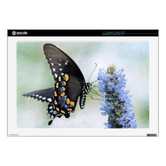 Butterfly on Blue Blossom laptop skin for Mac/PC