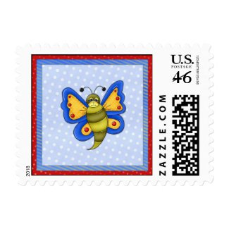 Butterfly On Blue stamp