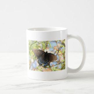 Butterfly on Blueberry Bush Coffee Mug