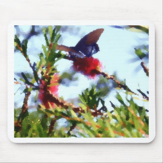 Butterfly on Bottle Brush Flower-PhotoMagic Mouse Pad
