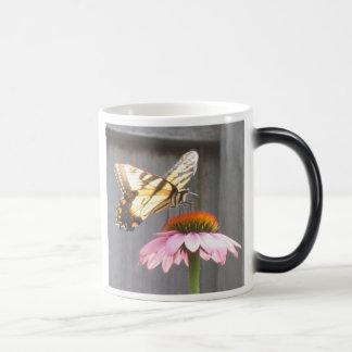 Butterfly on Cone flower Magic Mug