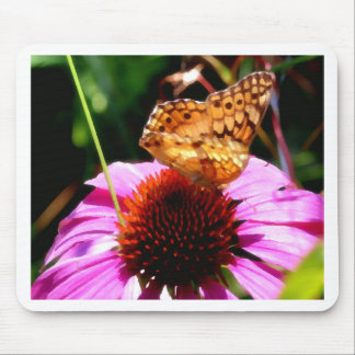Butterfly on Coneflower Magic Mouse Pad