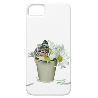 butterfly on daisies iPhone SE/5/5s case