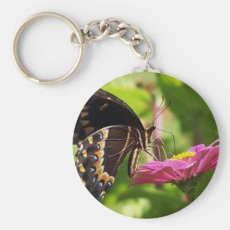Butterfly on daisy keychain