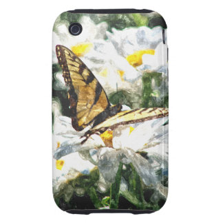 BUTTERFLY ON DAISY TOUGH iPhone 3 CASES