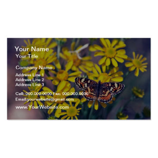 Butterfly On Desert Flora flowers Double-Sided Standard Business Cards (Pack Of 100)