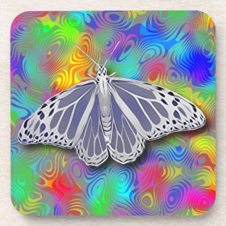 BUTTERFLY ON DESIGN BEVERAGE COASTER